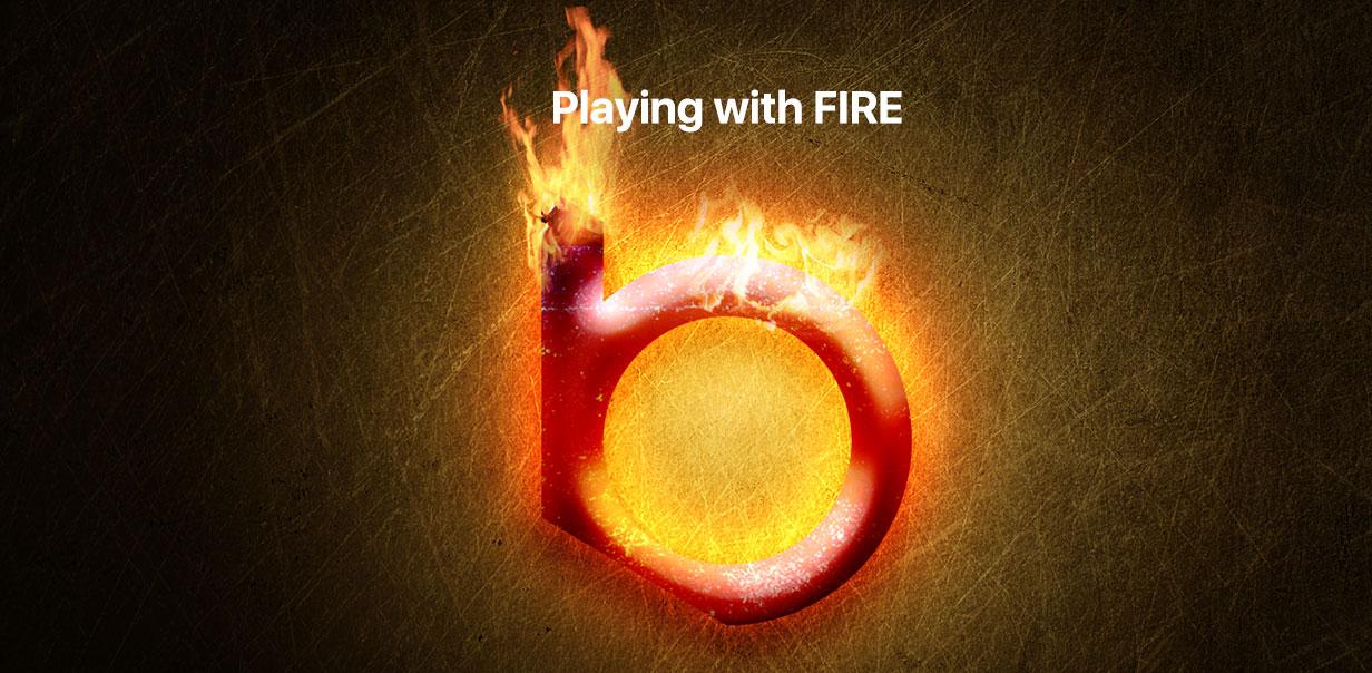 ایجاد افکت گداخته ی آتش بر روی لوگو