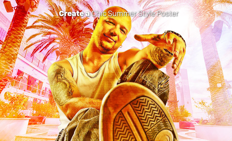 ایجاد پوستری جذاب و گرم با افکت سبک تابستانی