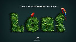 ایجاد یک افکت سبزه و برگ برای متن درفتوشاپ