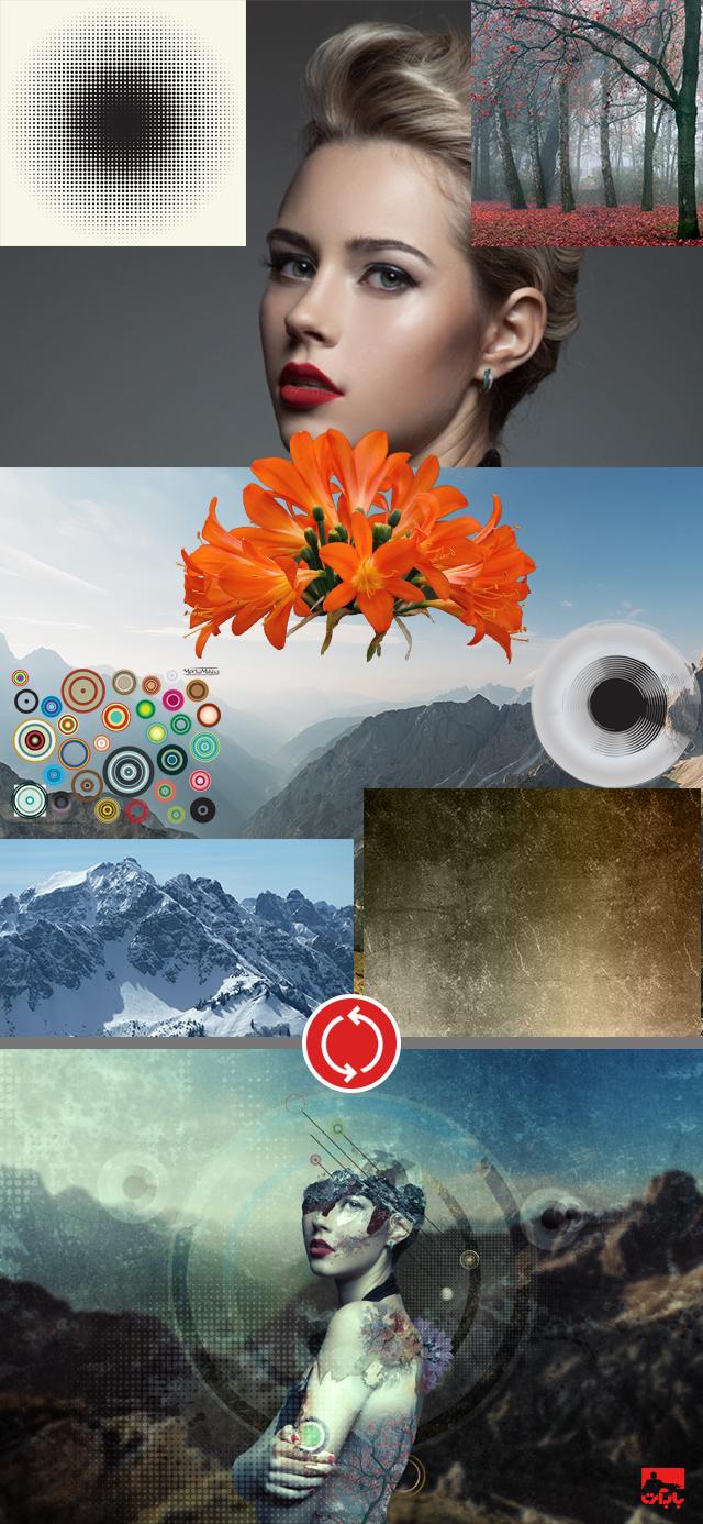ایجاد یک تصویر پرتره دستکاری تکه تکه در فتوشاپ