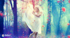 ایجاد یک رقصنده احساسی در یک جنگل