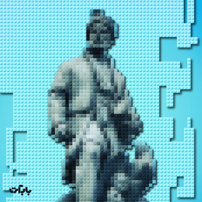 تبدیل یک عکس به پازل موزاییکی با استفاده از قطعات اسباب بازی LEGO