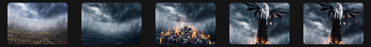 خلق یک پوستر آتش شیطانی در فتوشاپ