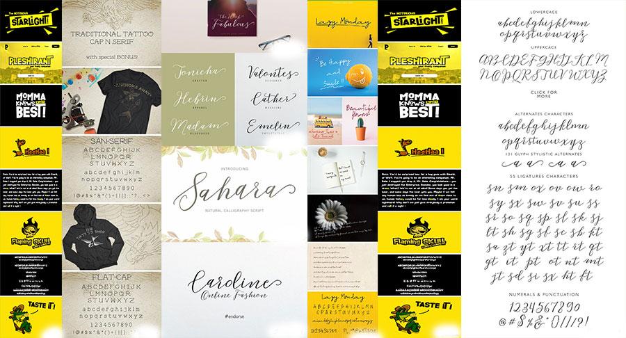 دانلود مجموعه فونت لاتین مناسب برای کارهای گرافیک و کالیگرافی