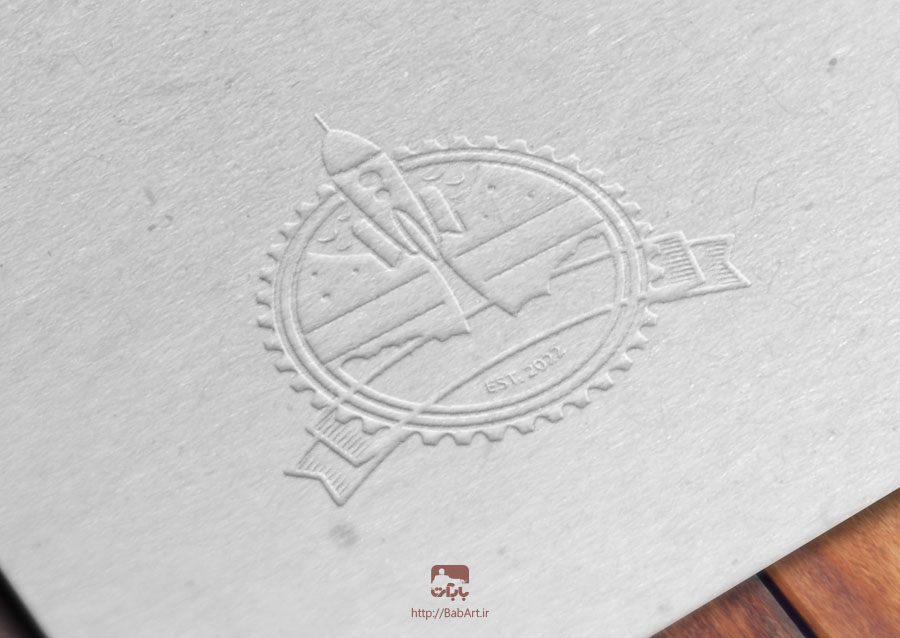 ساخت ماکت لوگو و مهر در فتوشاپ