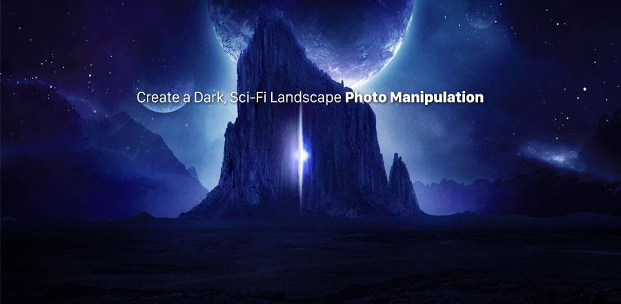 ساخت و ایجاد یک عکس از فضایی تیره و ساخت نور درخشان در تصویر