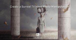 ساخت یک تصویر فرا واقعیت انسان و تلویزیون در فتوشاپ