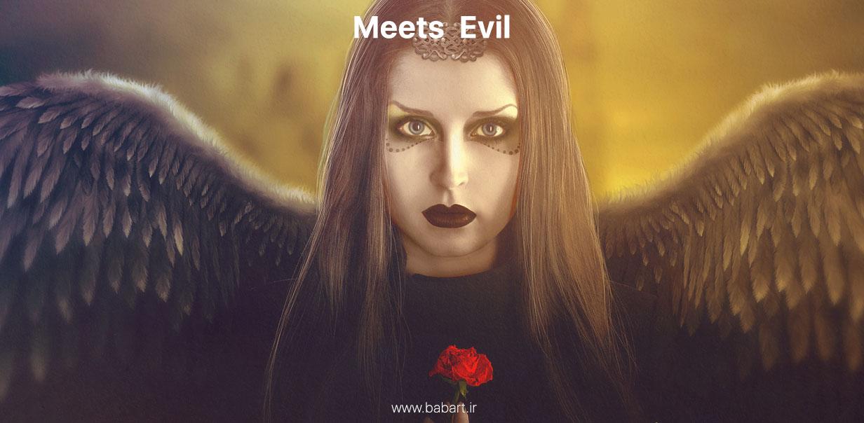 ساخت یک پوستر دستکاری تصاویر meets evil