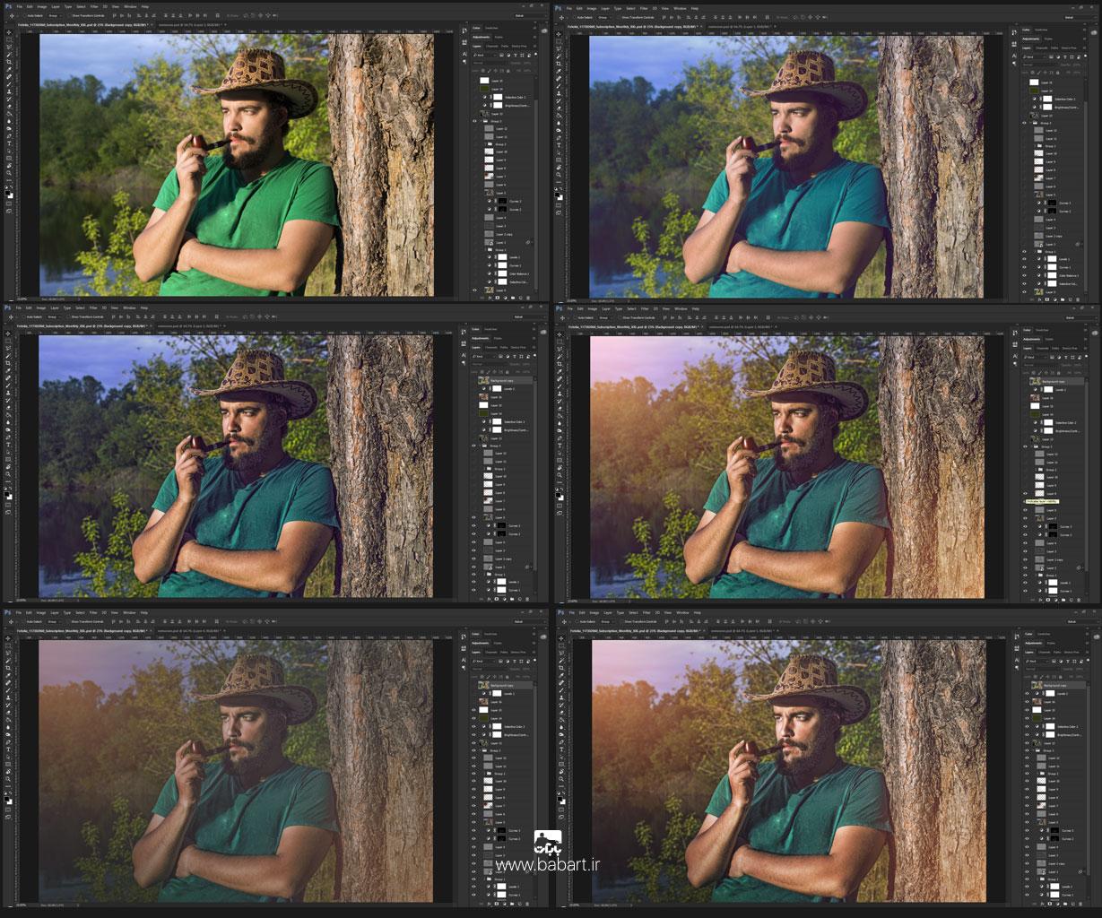 شارپ تصاویر افکت HDR بر روی پرتره در فتوشاپ