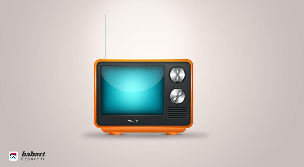 طراحی یک آیکون تلویزیون زیبا در فتوشاپ