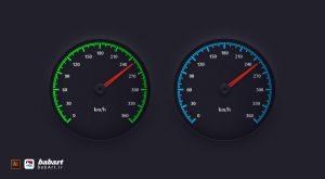طراحی یک صفحه نشانگر سرعت سنج ساده در ایلستریتور