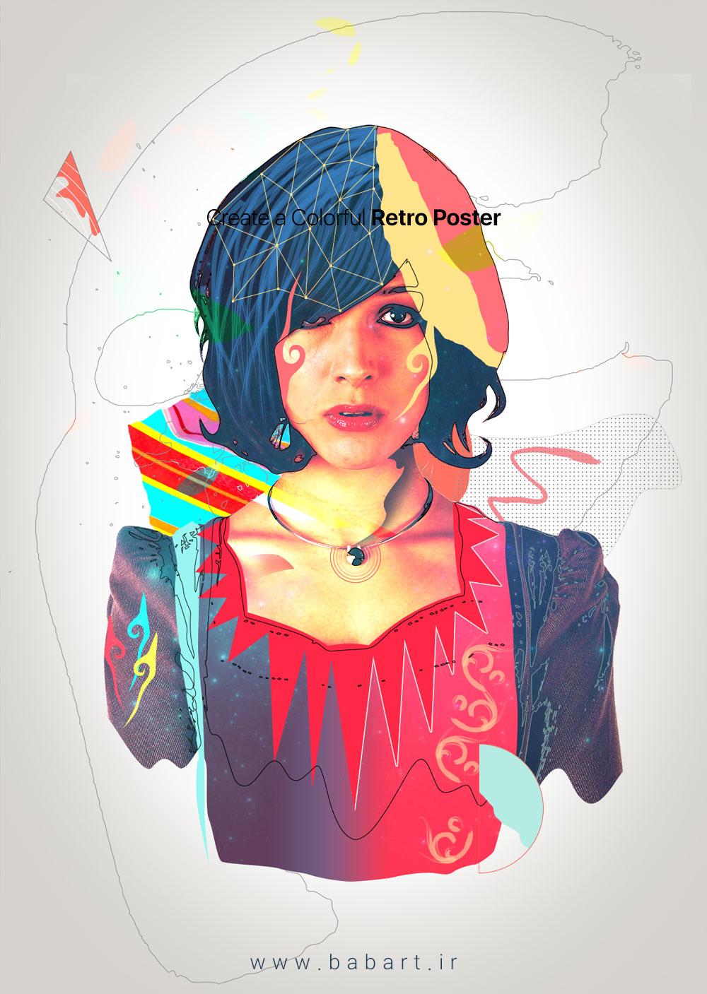 طراحی یک پوستر رنگارنگ در فتوشاپ و ایلستریتور
