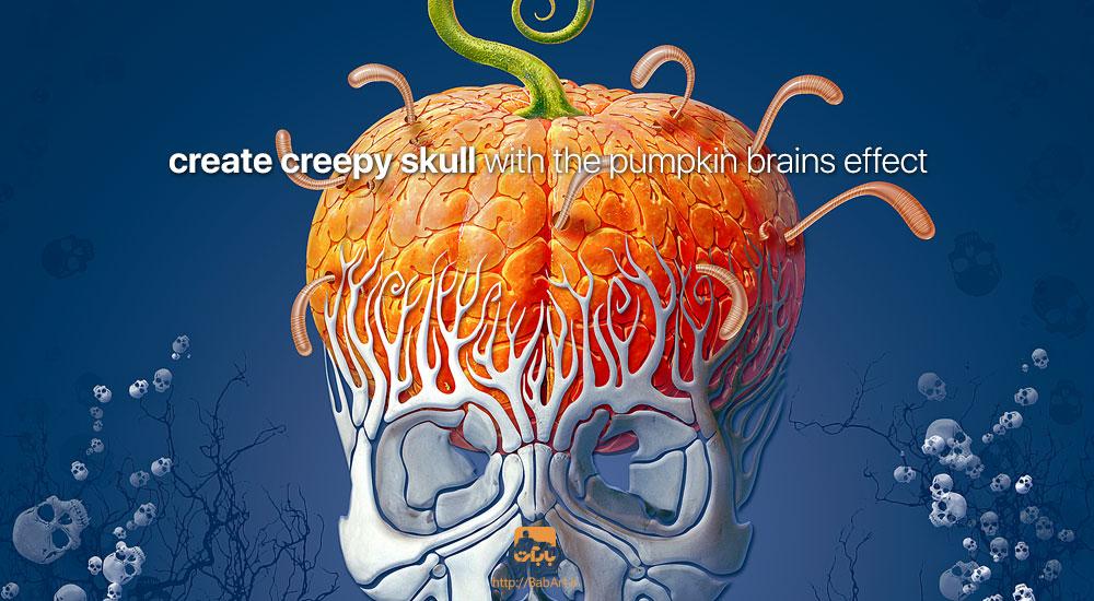 طراحی یک کارت پستال با موضوع هالووین