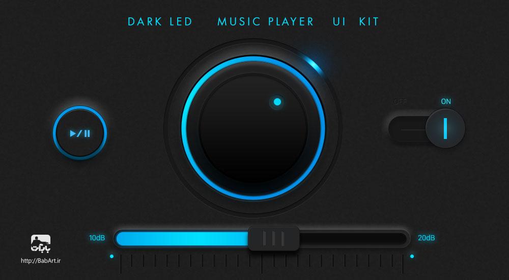 طراحی ui موزیک پلیر در فتوشاپ