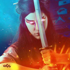 نحوه ایجاد یک تصویر زن سامورایی در فتوشاپ